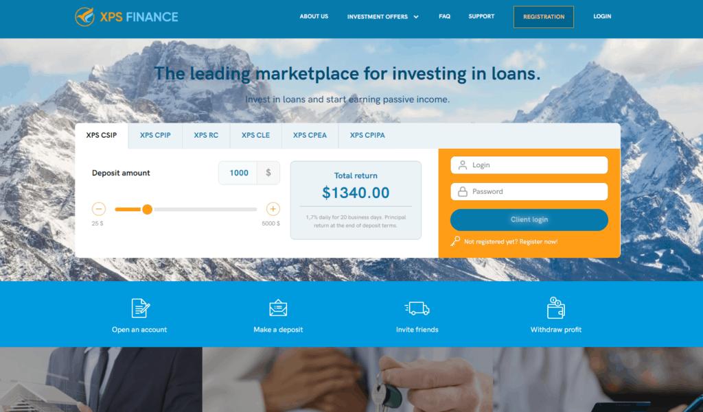 xps finance hyip 1024x601 - XPS Finance: Dự án đầu tư hấp dẫn, lợi nhuận lên tới 2.3%/ ngày. Bảo hiểm 2,000$