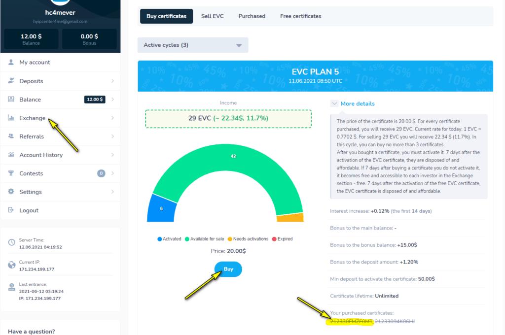 evercont buy certificates 1024x680 - [SCAM - DỪNG ĐẦU TƯ] Evercont: Dự án đầu tư hấp dẫn, lợi nhuận lên tới 3.1%/ ngày!