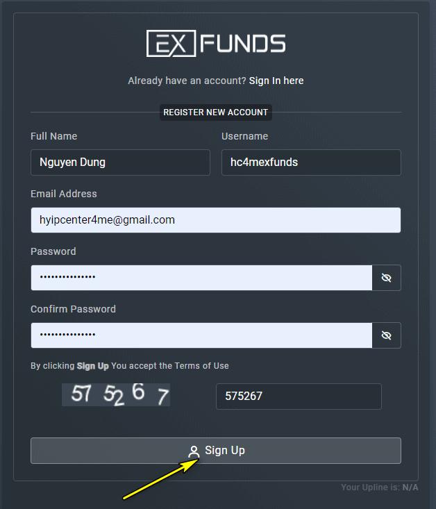 exfunds register account - [SCAM - NGỪNG ĐẦU TƯ] EX Funds: Sự trở lại của admin huyền thoại, lợi nhuận 4% mỗi ngày, rút vốn bất kì. SCAM or LEGIT?
