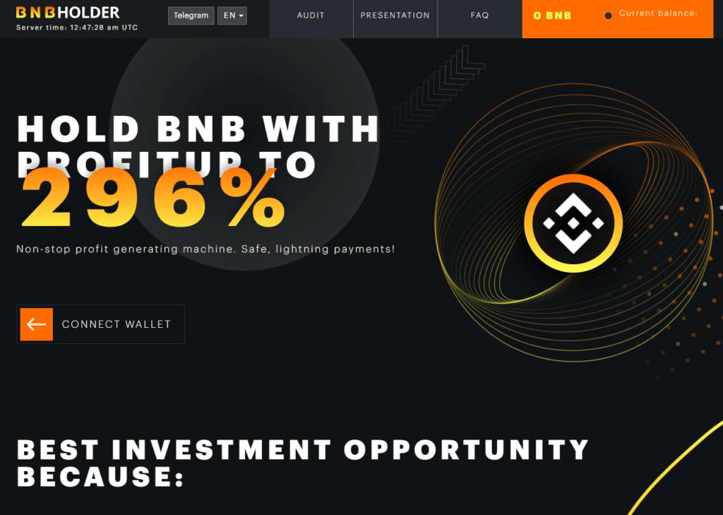 bnbholder hyip 1024x729 - [STOP] BNB Holder: Dự án smart contract trên BSC, nhận tiền lên tới 12% mỗi ngày
