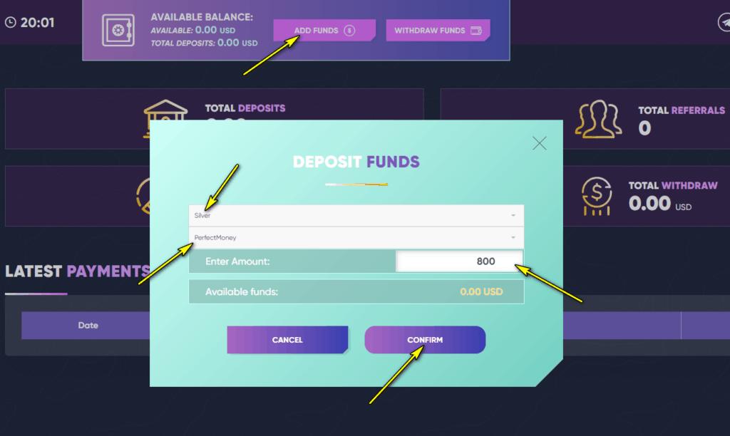 wego trade deposit 1 1024x612 - [SCAM - DỪNG ĐẦU TƯ] Wego Trade: Dự án đầu tư thông minh, nhận tiền mỗi giờ. Bảo hiểm 2,000$!