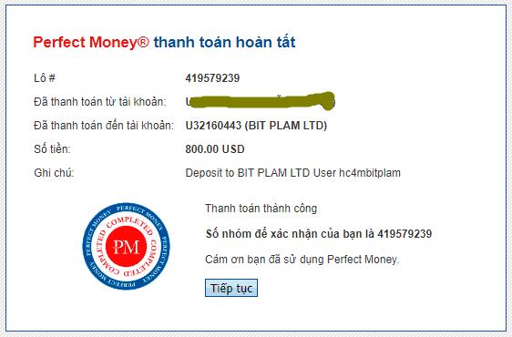 bit plam payment - BIT PLAM   Dự án từ admin huyền thoại - Lợi nhuận 4% mỗi ngày - Rút gốc bất kì - Bảo hiểm 2,200$
