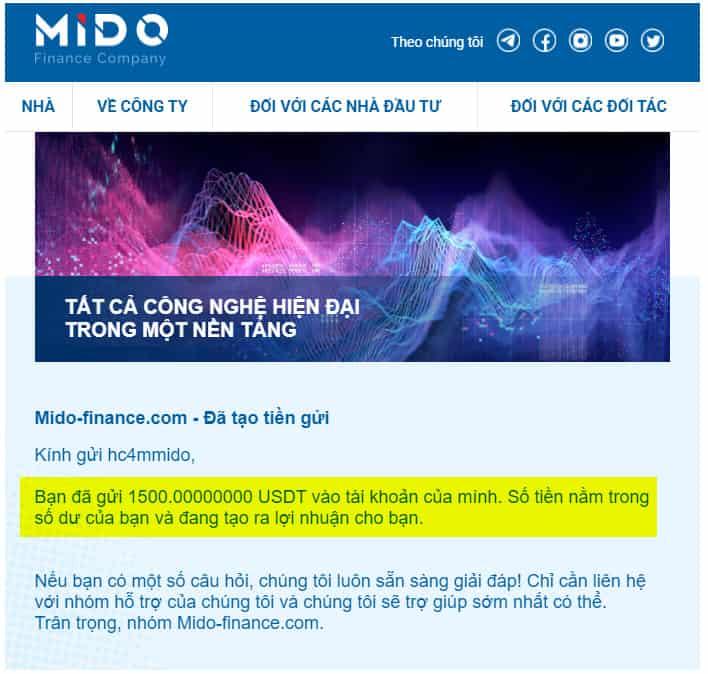 mido finance payment - Mido Finance là gì? Có nên tham gia đầu tư vào Mido-finance.com?
